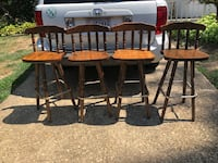 4 swivel wooden vintage antique bar stools Alexandria, 22309