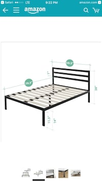 Brand new in box queen size bed frame