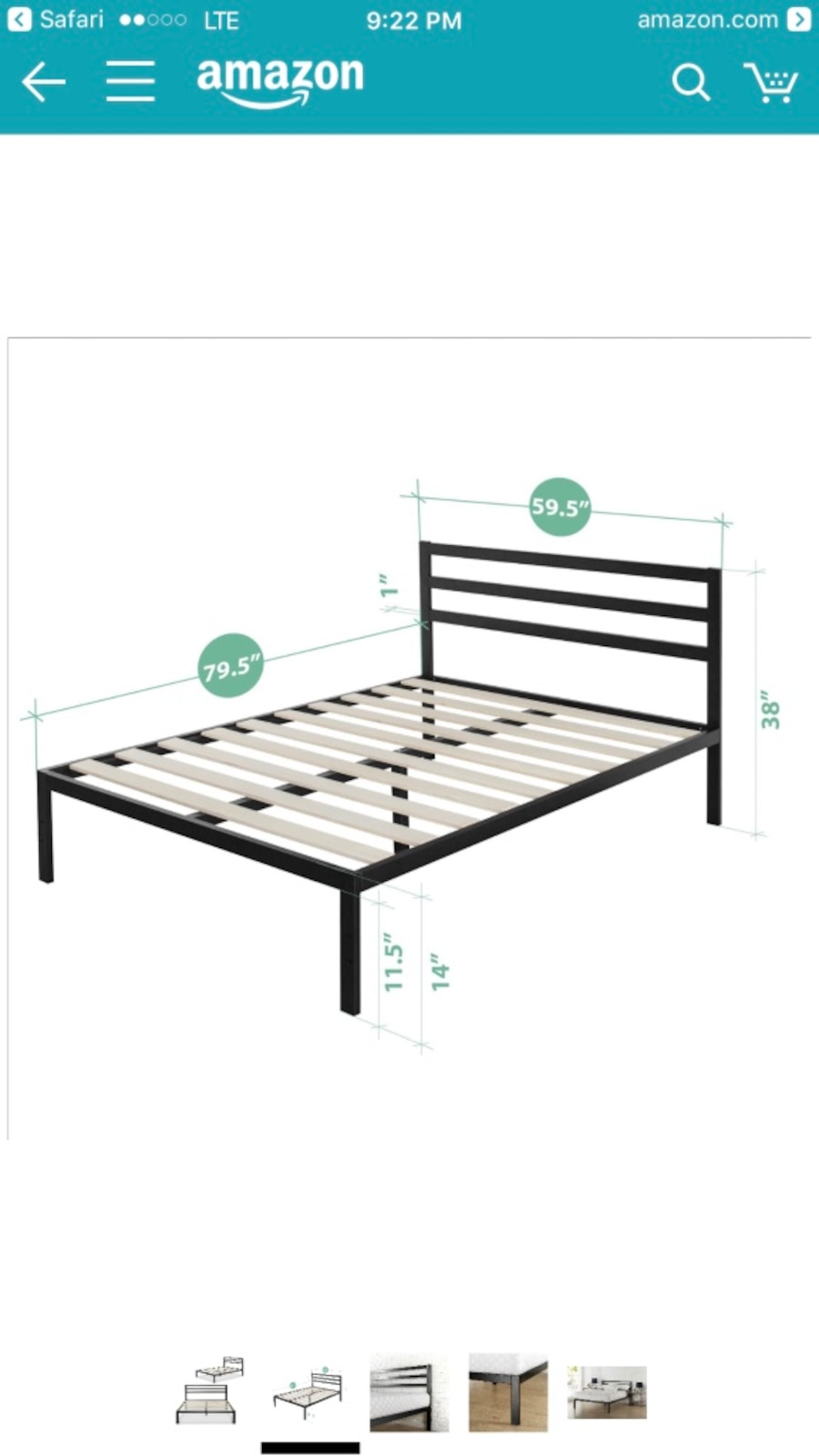 Brand new in box queen size bed frame - Panorama