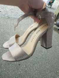 pair of gray open-toe ankle strap heels Mobile, 36608