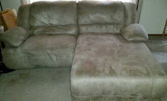 2pc Ashley Furniture Microfiber Sectional