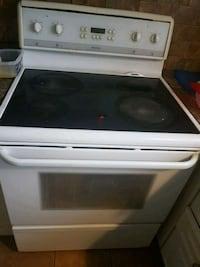 white and black smooth-top range with oven London, N6G 2S8