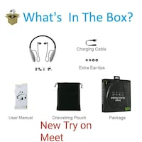 New boxed unopened try on meet advanced BT headset