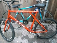 red and blue hardtail bike Pasadena, 91104