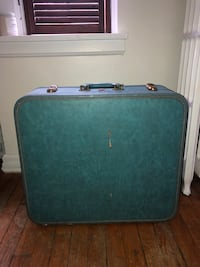 Blue Antique Luggage