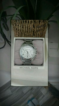 round silver-colored chronograph watch with link bracelet Las Vegas, 89128