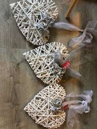 Large sparkly wicker hearts for reception or shower Winnipeg, R2V 4J2