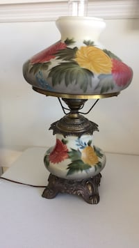 white and red floral table lamp Fort Myers, 33919