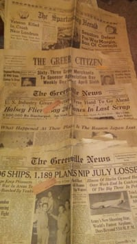 45 and 46 newspapers Greer, 29651