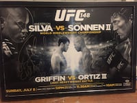 UFC 148 Signed Fight Poster Anderson Silva Chael Sonnen Forrest Griffin Tito Ortiz  Pittsburgh