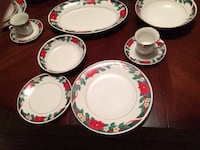Christmas Dishes: Holiday Dinner set for 8 Sutton, 01590