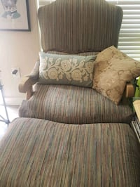 oversize chair with matching ottoman