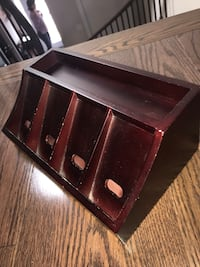Cherry wood charging station valet Toronto, M2R 3V6