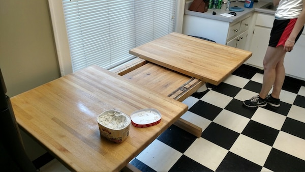 Butcher Block Kitchen Table and 4 Chairs