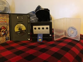 GameCube with GBA Attachment and Disk