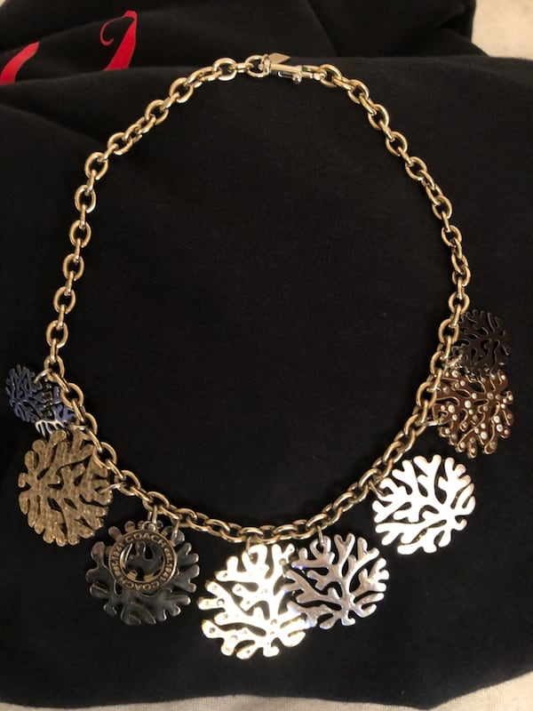Coach coral bib necklace 0