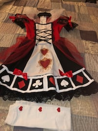 Queen of hearts costume with footless heart tights, size Medium  Washington, 20017