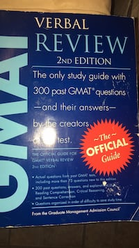 GMAT Verbal review 2nd edition  Clarksburg, 20871