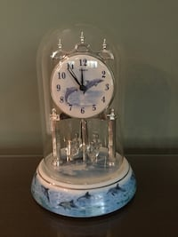Timex Porcelain Glass Dome Dolphin Clock Landisville, 17538