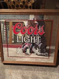Framed Coors Light mirror with light up feature 1179 mi