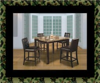 Marble tall table with 4 leather chairs Seat Pleasant, 20743