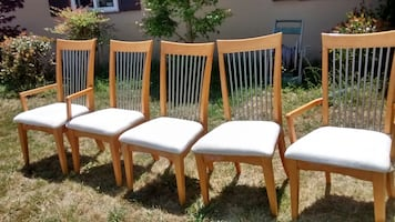Brown wooden windsor chair