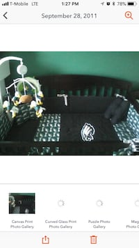 Philadelphia Eagles Baby Crib Set without crib and mobile  Washington, 20002