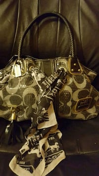 Large handbag in very EUC except for scarf Winnipeg, R3K 2G6
