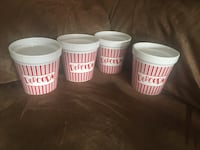 Four white-and-red Popcorn cups Shediac, E4P 2G4