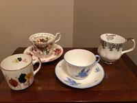 Unique Coffee Cup and tea cups and saucers  very rare from England London, N5Y 4A6