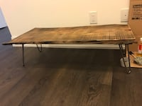 rectangular brown wooden coffee table Vaughan, L4L 0G8