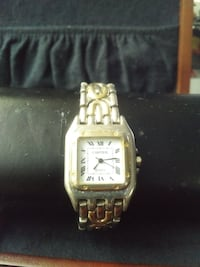 Two-tone Genuine Cartier Vintage Wrist Watch Queens County