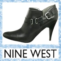 pair of black leather platform stilettos Hagerstown, 21740
