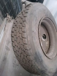 Semi tire plus rim