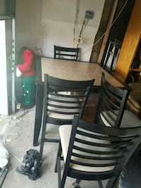 Long leg table and chairs