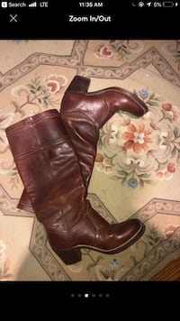 pair of brown leather cowboy boots Bethesda, 20817