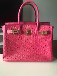 pink and brown leather tote bag 553 km