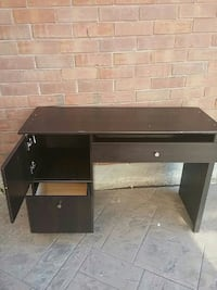 black wooden single pedestal desk Mississauga, L5V 2V3