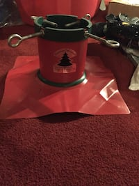 Red and black christmas pine tree stand Markham, L3P 6N5