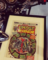 1970s ghost rider framed 1st print London, N5Y 5M5