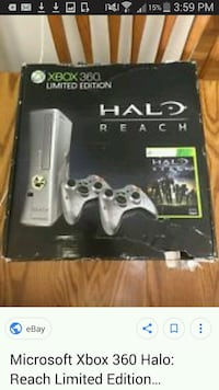 Xbox 360 console with controller and game case Stratford, N5A
