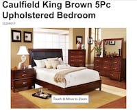 brown wooden bed frame with white mattress Plantation, 33323