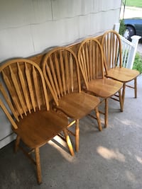 Wooden Dining Set (w/ four chairs) Newark, 43055