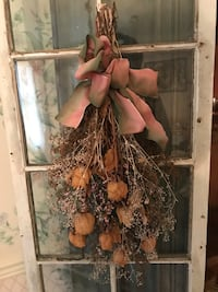Dried roses with pink bow Upper Saddle River, 07458