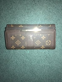 Brown and Gold Louis Vuitton Leather Wallet Elkridge, 21075