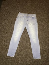 light, holed jeans size 15 Lincoln