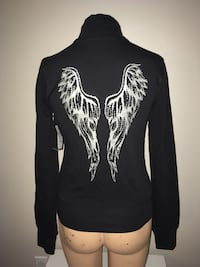 Mikk Athletica Bling Angel Wings Jacket Medium New with Tag