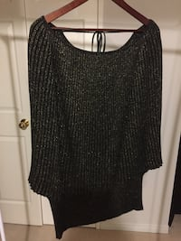 Bianca Nygard women's top light black with gold - bought from The Bay