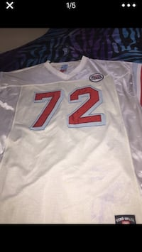 white and red NFL jersey 298 mi