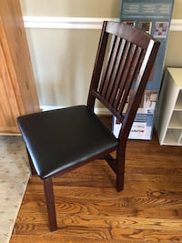 Folding Wood and Leather Chair Clifton